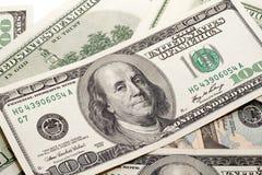 Dinheiro de Franklin Fotografia de Stock