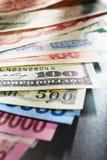 Dinheiro de Globay Foto de Stock Royalty Free