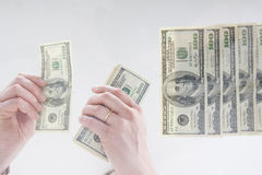 Dinheiro de Handeling Imagem de Stock