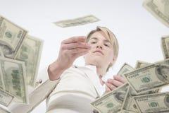 Dinheiro de jogo ao redor Foto de Stock