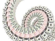 Dinheiro de muitos muitos dólares Fotografia de Stock