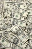 Dinheiro de papel aleatório dos EUA foto de stock royalty free