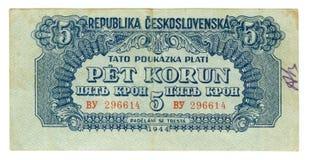 Dinheiro de papel velho da nota de banco Fotografia de Stock Royalty Free