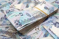 Dinheiro de Qatari Foto de Stock Royalty Free