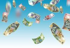 Dinheiro de queda Imagens de Stock Royalty Free