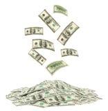 Dinheiro de queda Imagens de Stock