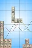 Dinheiro de Tetris Fotografia de Stock