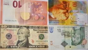 Dinheiro, dinheiro, moeda do fundo Fotografia de Stock