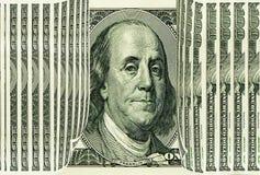 Dinheiro, dinheiro? é potência e energia para povos 100 dólares americanos, retrato de Franklin Fotos de Stock Royalty Free