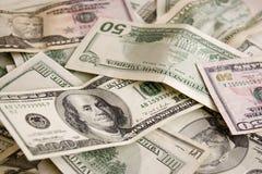 Dinheiro dispersado Fotos de Stock Royalty Free