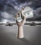 Dinheiro do óleo imagens de stock royalty free