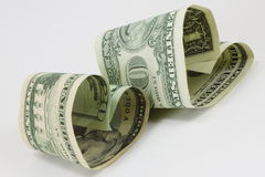 Dinheiro do amor Imagem de Stock