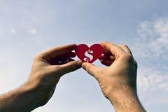Dinheiro do amor Foto de Stock Royalty Free