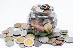 Dinheiro do baht tailandês fotos de stock royalty free