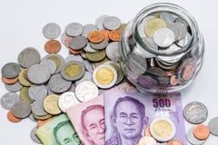 Dinheiro do baht tailandês fotografia de stock royalty free