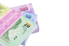 Dinheiro do baht tailandês imagens de stock royalty free