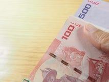 Dinheiro do baht tailandês com economia financeira Fotos de Stock