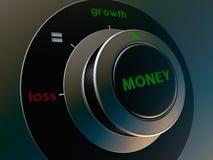 Dinheiro do botão Imagem de Stock