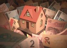 Dinheiro do brasileiro da casa Foto de Stock
