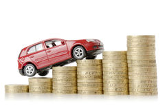 Dinheiro do carro Fotos de Stock