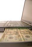 Dinheiro do computador Fotografia de Stock