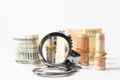 Dinheiro do conceito do crime do imposto foto de stock royalty free