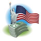 Dinheiro do dólar ilustração do vetor
