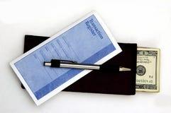 Dinheiro do depósito Fotografia de Stock Royalty Free