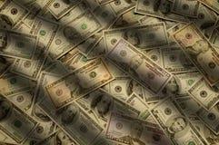 Dinheiro do dinheiro de várias denominações da nota de banco fotografia de stock royalty free