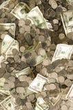 Dinheiro do dinheiro do dinheiro! Fotografia de Stock