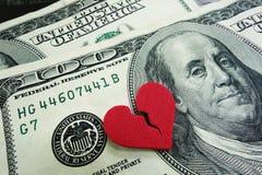 Dinheiro do divórcio Imagens de Stock Royalty Free