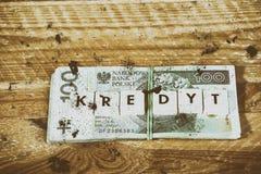 Dinheiro do empréstimo - moeda polonesa Imagens de Stock