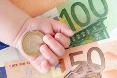 Dinheiro do Euro Foto de Stock