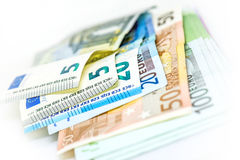 Dinheiro do Euro, Curency foto de stock royalty free