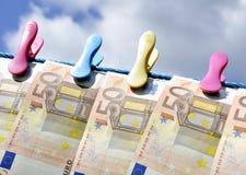 Dinheiro do euro da impressão Imagem de Stock