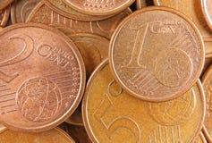 Dinheiro do euro da vista superior foto de stock royalty free
