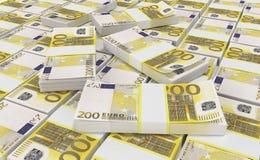 Dinheiro do Euro 200 euro- fundo do dinheiro Cédulas do dinheiro do Euro ilustração royalty free