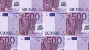 dinheiro do fundo do dinheiro do euro 500 Pena, eyeglasses e gráficos Economia dos ricos do sucesso do conceito vídeos de arquivo
