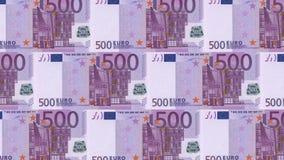 dinheiro do fundo do dinheiro do euro 500 Pena, eyeglasses e gráficos Economia dos ricos do sucesso do conceito filme