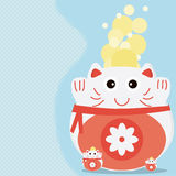 Dinheiro do gato mais cartão Fotos de Stock Royalty Free