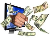Dinheiro do Internet Imagem de Stock Royalty Free