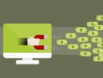 Dinheiro do Internet Fotos de Stock