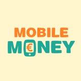 Dinheiro do móbil do texto Ilustração Stock