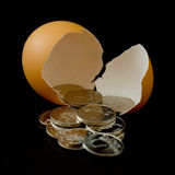 Dinheiro do ovo Imagens de Stock