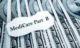 Dinheiro do parte b de Medicare imagem de stock