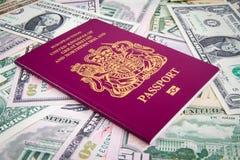 Dinheiro do passaporte Imagem de Stock