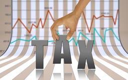 Dinheiro do reembolso da economia do imposto Foto de Stock