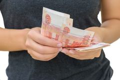 Dinheiro do rublo de Rússia Fotos de Stock Royalty Free
