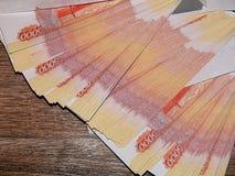 Dinheiro do russo com um valor nominal de 5000 rublos Fotografia de Stock