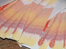 Dinheiro do russo com um valor nominal de 5000 rublos Imagens de Stock Royalty Free